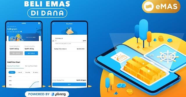 Kini Pengguna Aplikasi Dana Bisa Investasi Emas Lewat Aplikasi