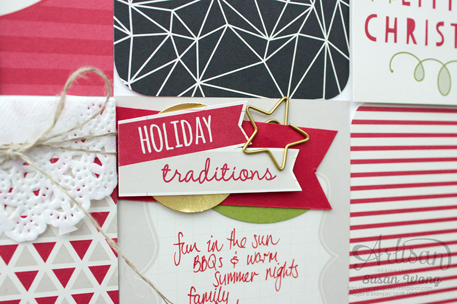 Seasonal Snapshot Holiday 12x12 Decor detail ~ Susan Wong