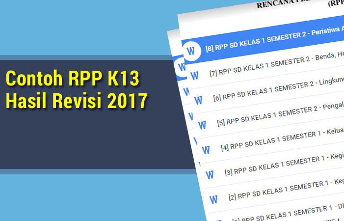 Contoh RPP K13 Hasil Revisi 2017