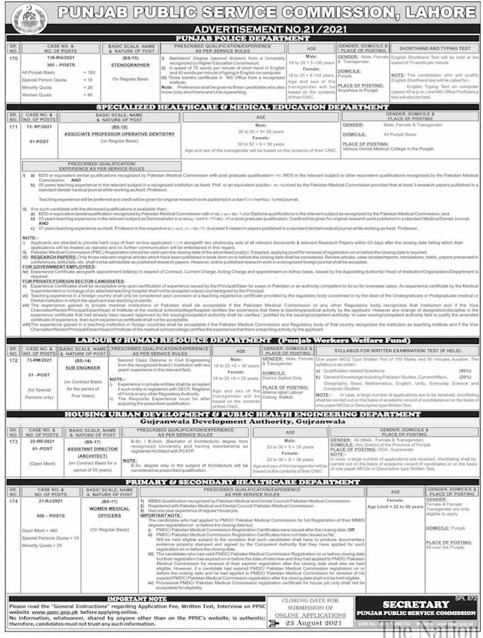 PPSC Punjab Punjab Police Jobs 2021 ||  www.punjabpolice.gov.pk jobs 2021