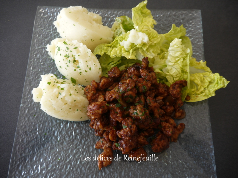 les délices de reinefeuille: protéines de soja sauce barbecue