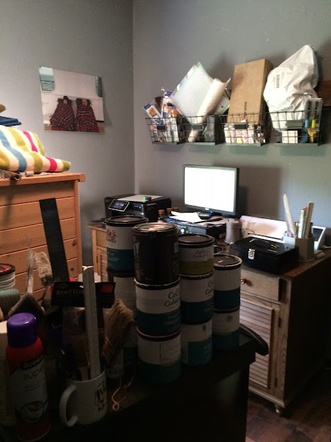 I can relate to a messy office as a painter! A messy office is the sign of a creative mind!