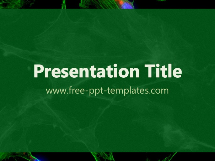 biology cell ppt template, Modern powerpoint