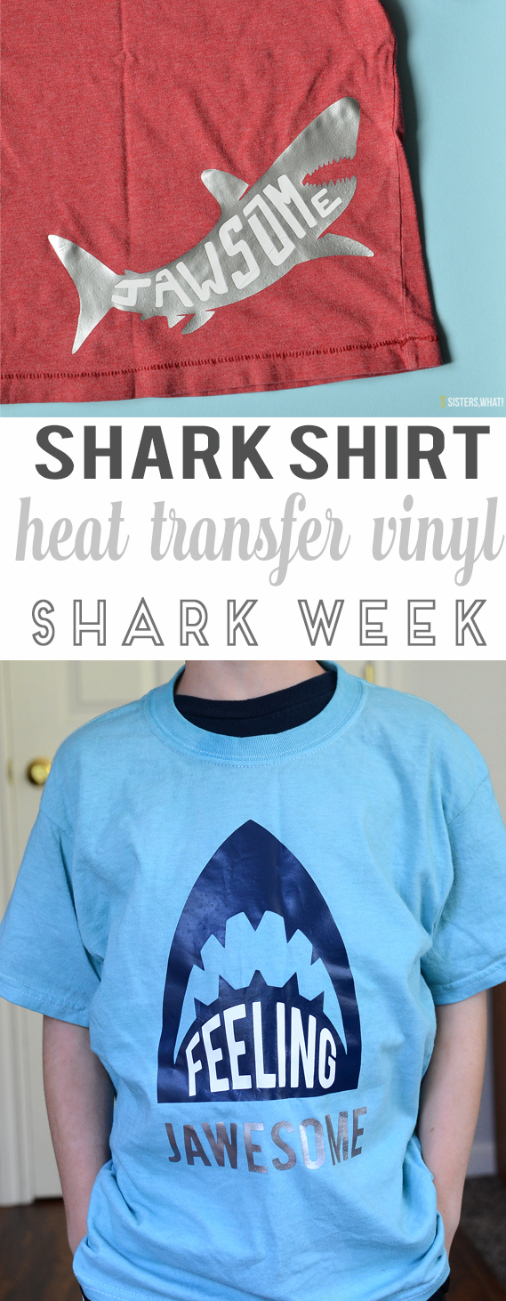 diy shark shirt jawsome heat transfer vinyl