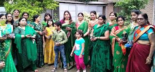 हर्षोल्लास के साथ मनाया गया हरियाली तीज का त्योहार | #NayaSaberaNetwork