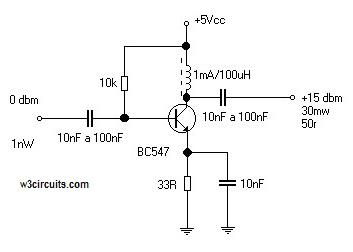 Simple RF Amplifier Circuit Diagram