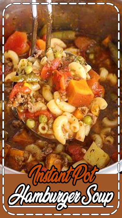 This Instant Pot Hamburger Soup recipe is a healthy weeknight meal that everyone will love! It is packed with protein, vegetables, and is ready in less than 5 minutes. Meal-prep this hamburger soup for lunch or dinner this week. You won't regret it!