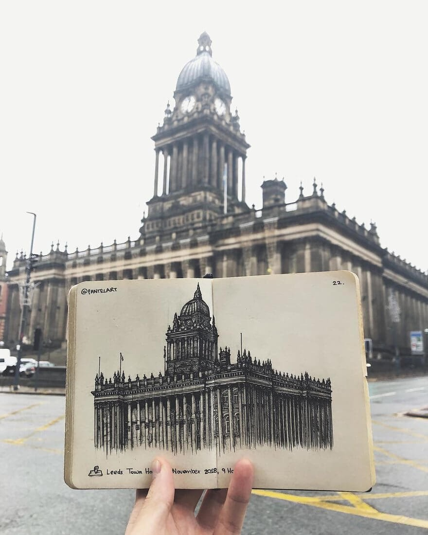 05-Leeds-Town-Hall-Alex-Pantela-Ink-Urban-Architectural-Drawings-www-designstack-co