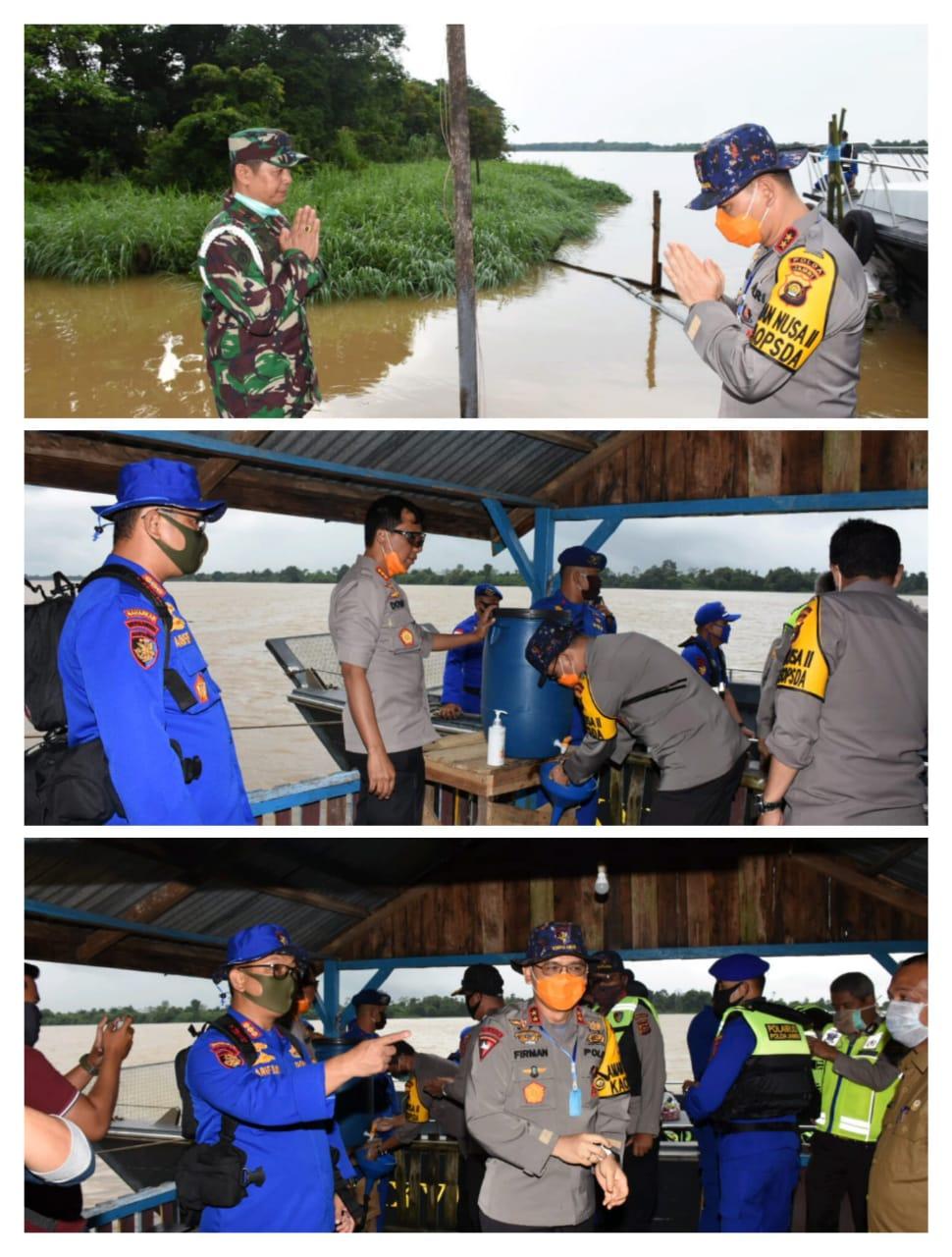 Dalam Kegiatan Patroli Kamtibmas Di Wilayah Perairan, Kapolda Jambi Pantau Langsung Dampak Wabah Virus Corona Terhadap Masyarakat