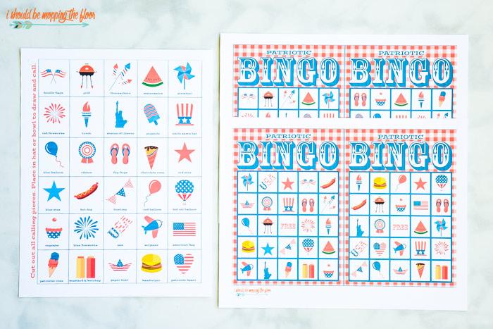 Patriotic Bingo Printables