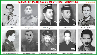 nama pahlawan revolusi korban G30S/PKI