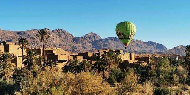 تدشين اول خدمة سياحية بالمناطيد  بجهة درعة تافيلالت