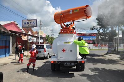 Demi Lebaran Tenang, Patroli dan Penyemprotan Disinfektan Dilakukan Besar-Besaran di Wonogiri
