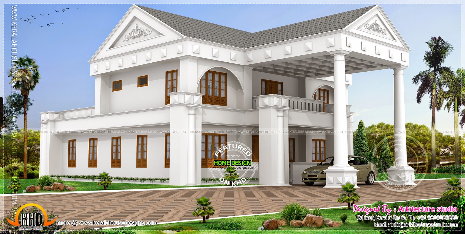 April 2014 kerala home design and floor plans for 3500 square foot house
