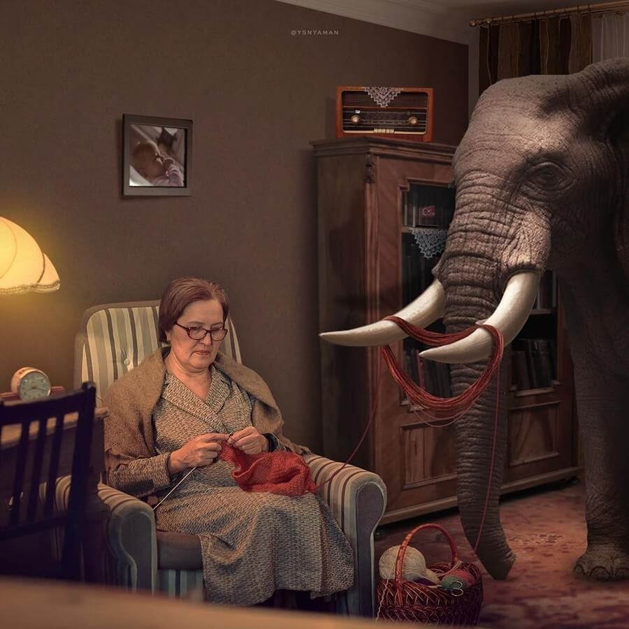 10-Elephant-and-knitting-Yasin-Yaman-www-designstack-co