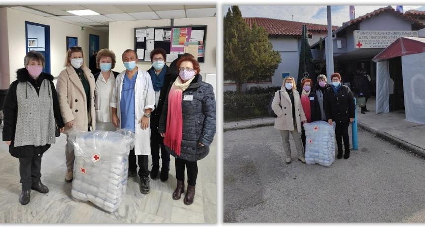 Δωρεά υγειονομικού υλικού στο Κέντρο Υγείας Ορεστιάδας από τον Ελληνικό Ερυθρό Σταυρό