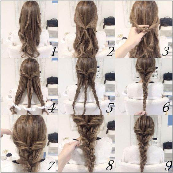 tutorial penteado fácil com trança