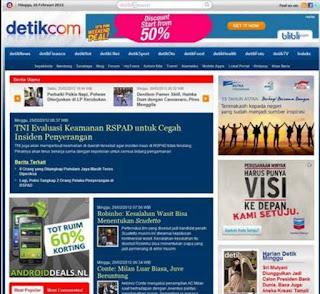 OBRAL MURAH Premium Template Situs DetikCom & detikcoy blogger blogspot