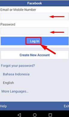 facebook login in facebook lite