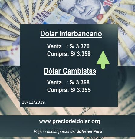 Precio del dólar opera al alza