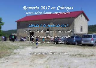 Cartel Romería 2017 en Cabrejas