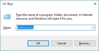 اضافة برنامج لقائمة بدء التشغيل ويندوز 10