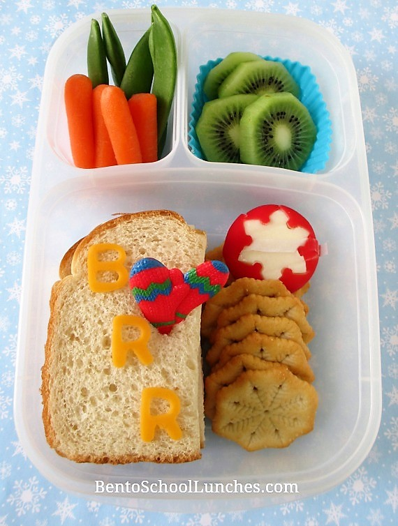 BRR, it's cold outside Winter theme lunch in Easylunchboxes