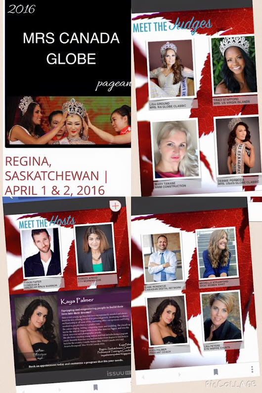 Program book for Mrs Canada Globe 2016