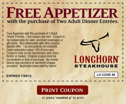 graphic about Longhorn Steakhouse Printable Coupons named Longhorn steakhouse coupon codes june 2018 / Namecoins discount coupons
