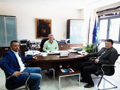 Επίσκεψη του Διευθυντή Δευτεροβάθμιας Εκπαίδευσης Θεσπρωτίας στο Δημαρχείο Ηγουμενίτσας