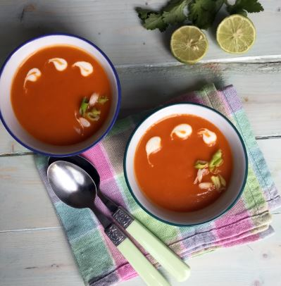 Vegan Butternut Squash and Tomato Soup