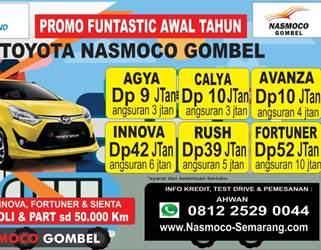 Promo Toyota Nasmoco Gombel Semarang  Demak, Pati, Kudus, Purwodadi, Salatiga, Kendal, Jepara, Ungaran
