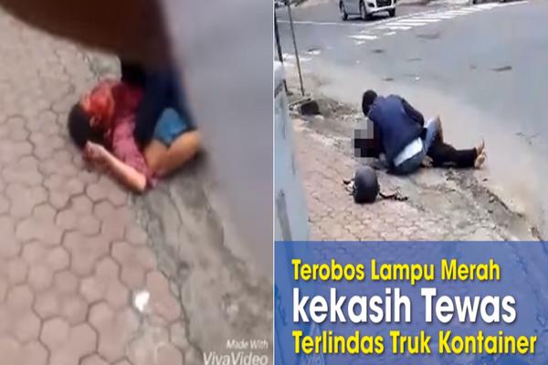 Detik-Detik Kecelakaan Maut Sepasang Kekasih di Kediri, Diseret Sembari Ucap Syahadat