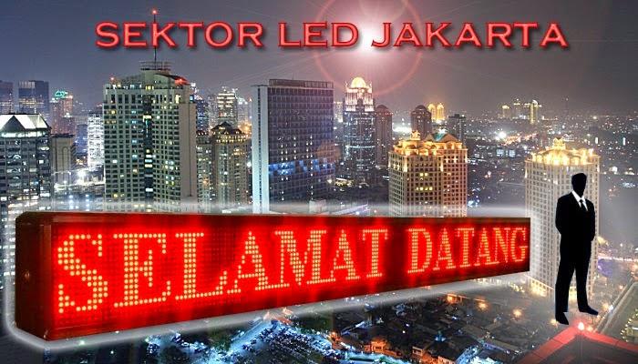 Sektor LED Jakarta: Running Teks Dengan Harga Terjangkau