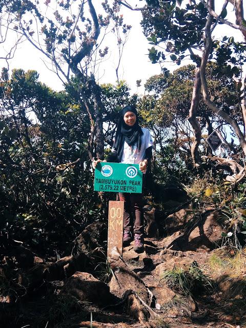 Puncak Gunung Tambuyukon, Mount Tambuyukon peak