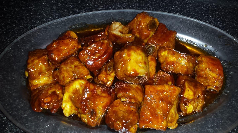 Los guisos de sipos costillas con coca cola y salsa barbacoa for Salsa barbacoa ingredientes