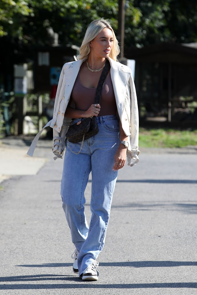 Amber Turner Clicked on the Set of The Only Way is Essex 3 sep -2020