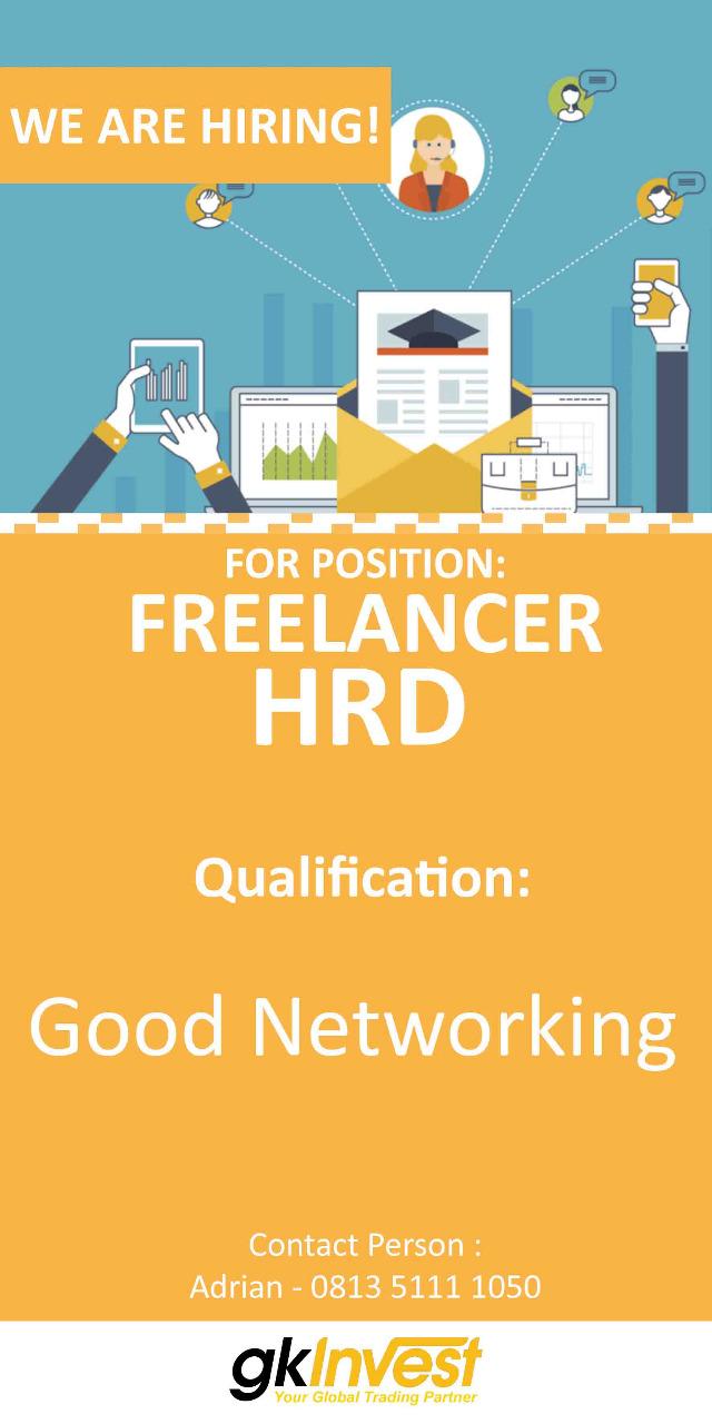 Lowongan Kerja Freelancer HRD GK Invest Bandung Maret 2019