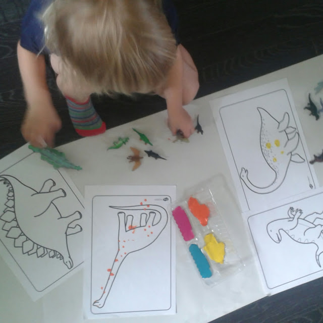 Dinosaur stomp painting