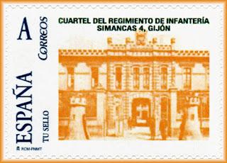 Sello personalizado del Cuartel de Infantería Simancas, Gijón CMI Coto