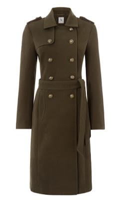 Sainsburys TU Clothing Womens Khaki Belted Military Coat