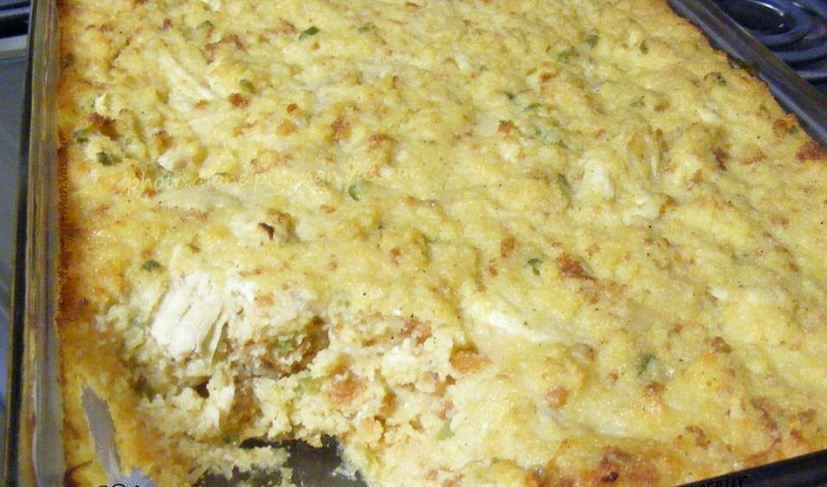 Southern Cornbread Dressing with Chicken