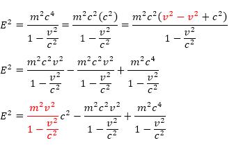 penurunan energi relativistik
