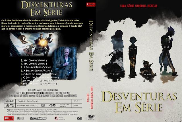 Capa DVD Desventuras Em Série Primeira Temporada Completa