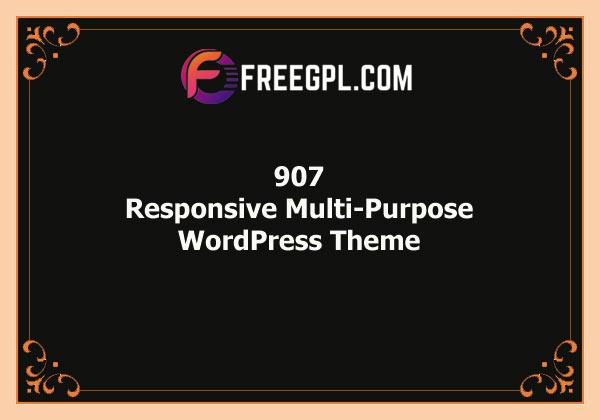 907 – Responsive Multi-Purpose WordPress Theme Free Download