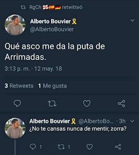 Alberto , no Albert , Bouvier , gran apellit català , qué asco me da la puta de Arrimadas, no te cansas nunca de mentir, zorra ?