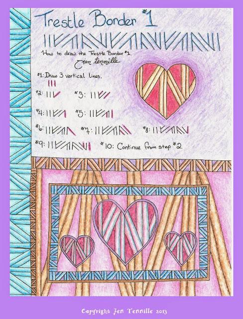 Trestle Border Doodle Free Tutorial