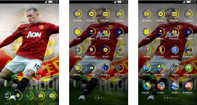 Tema Manchester United Android - Rooney