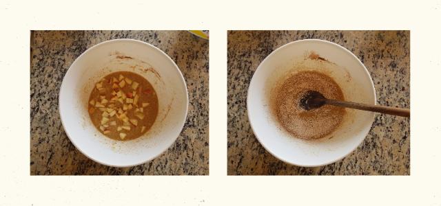 Como fazer Bolo de banana com maça na Air Fryer em 10 minutos