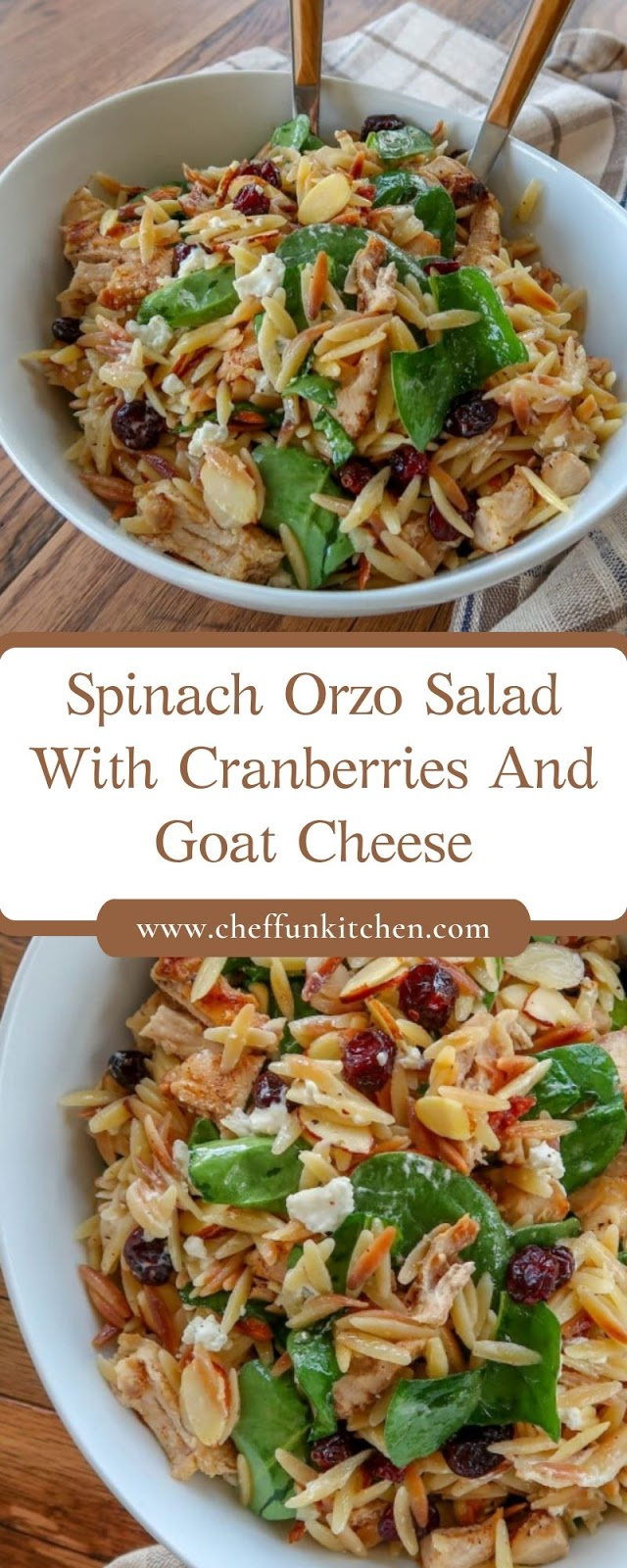 Spinach Orzo Salad With Cranberries And Goat Cheese